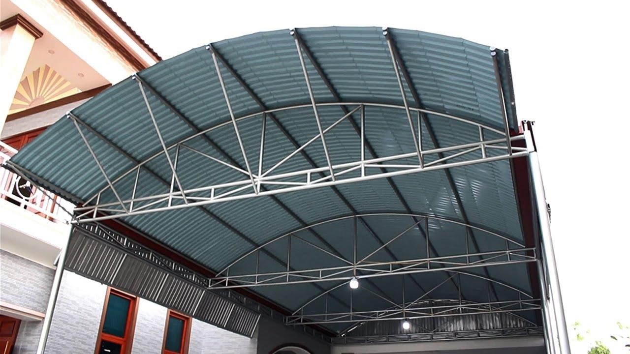 Mái tôn vòm sân